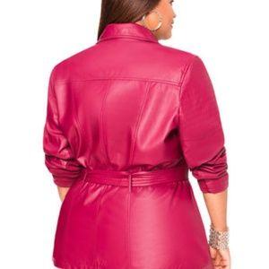 9968eb5f093 Ashley Stewart Jackets   Coats - BELTED FAUX LEATHER JACKET